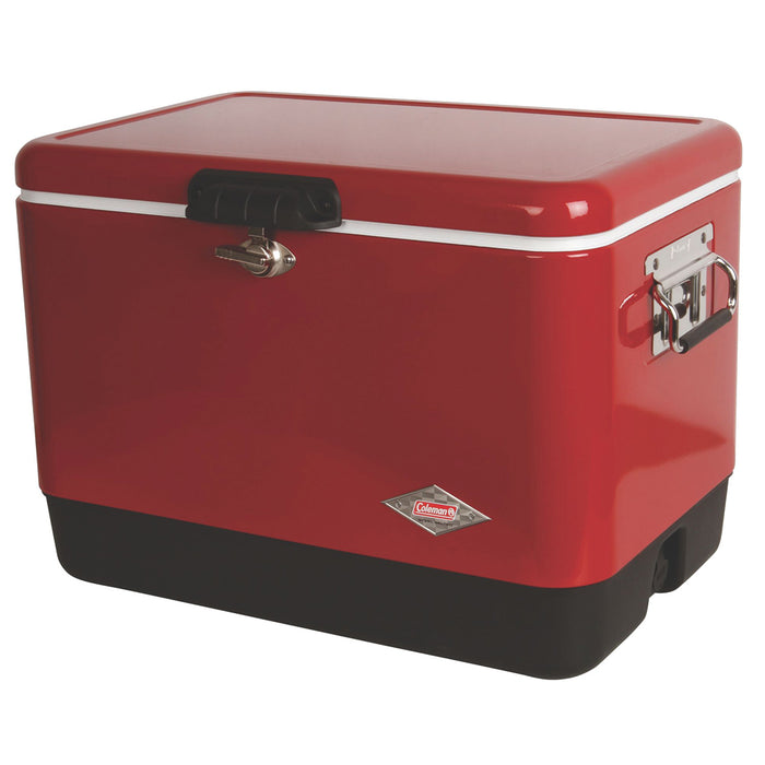 Coleman 3000003539 54-Quart Comfort-Grip Steel Belted Cooler - Red