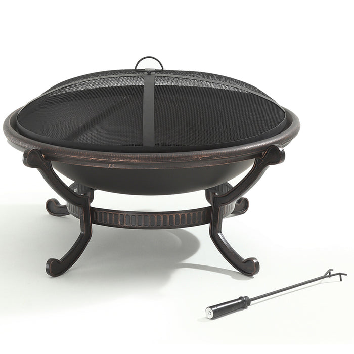 Crosley CO9003A-BK 35-Inch Cast Iron Copper Finish Bowl Style Ashland Firepit
