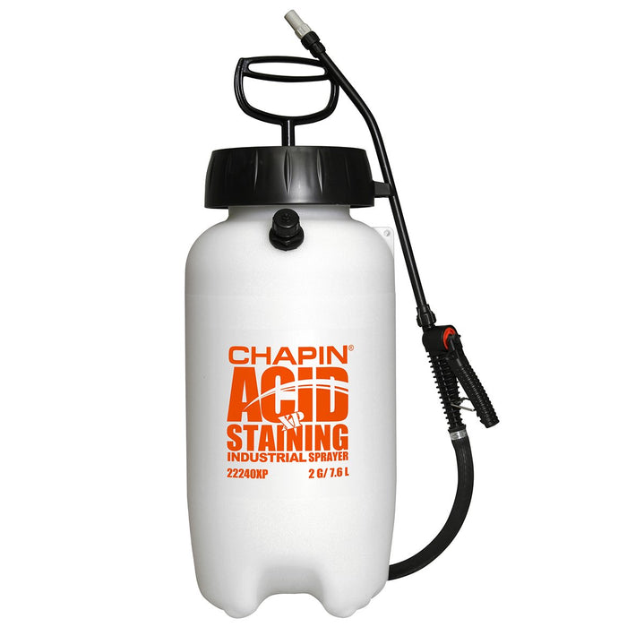 Chapin 22240XP 2 Gallon Heavy Duty Wide Mouth XP Acid Staining Poly Tank Sprayer