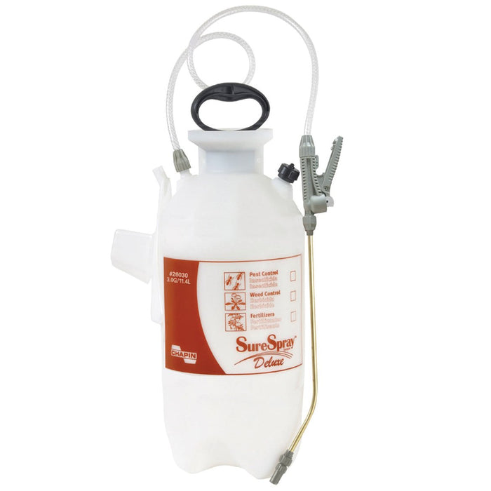 Chapin 26030 3 Gallon 40-60 Psi Heavy Duty SureSpray Deluxe Tank Sprayer