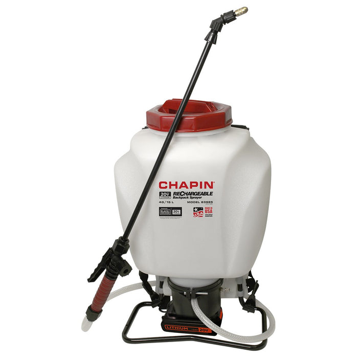 Chapin 63985 20-Volt 4 Gallon 35-40 Psi Lithium-Ion Wide Mouth Backpack Sprayer