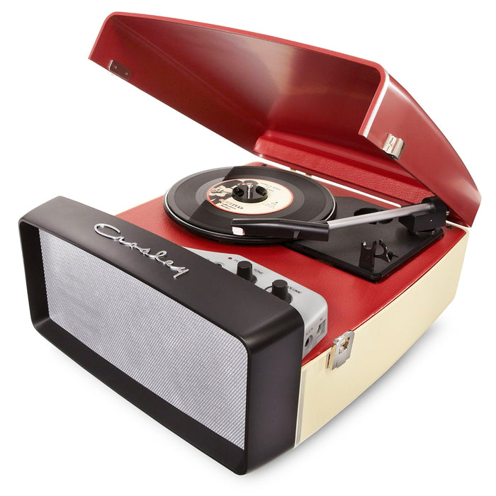 Crosley CR6010A-RE 3-Speed Collegiate Portable USB-Enabled  Turntable - Red
