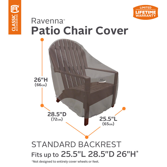 Classic Accessories 55-143-015101-EC Ravenna Dark Taupe Patio Chair Cover