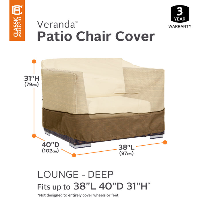 Classic Accessories 55-412-011501-00 Veranda Pebble Deep Seat Lounge Chair Cover