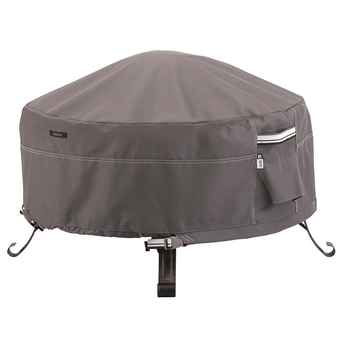 Classic Accessories 55-484-015101-EC 30-Inch Taupe Round Fire Pit Table Cover