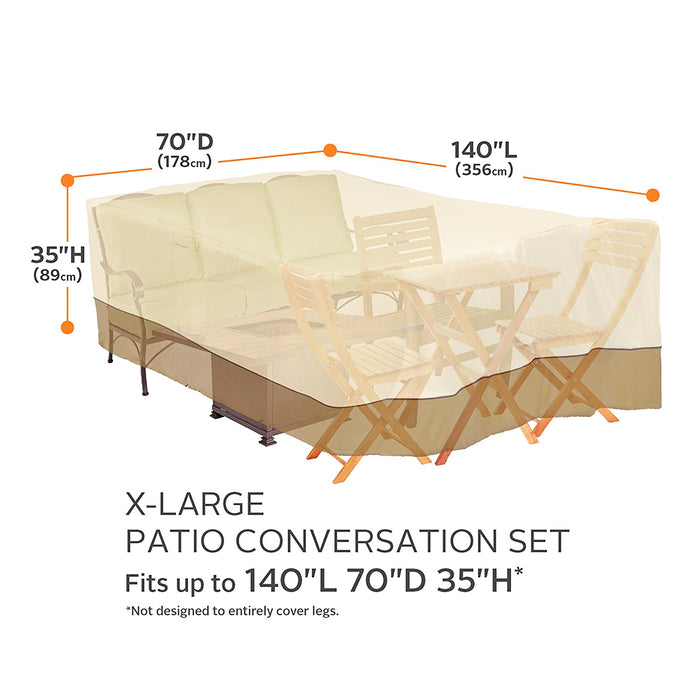 Classic Accessories 55-884-051501-00 140-Inch Veranda Patio Furniture Cover