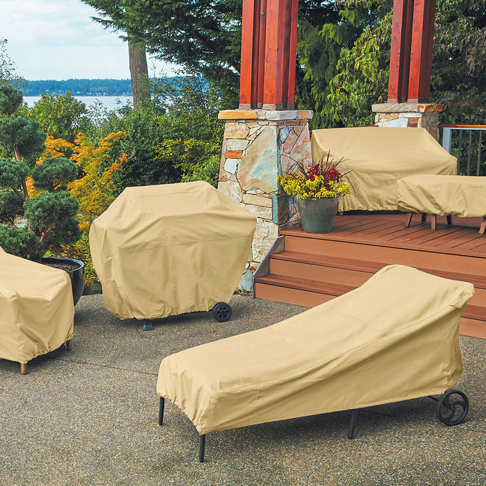Classic Accessories 58952 Terrazzo Sand Heavy Duty Patio Chaise Lounge Cover