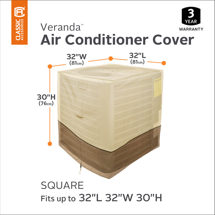 Classic Accessories 73132 Veranda Pebble Patio Square Air Conditioner Cover