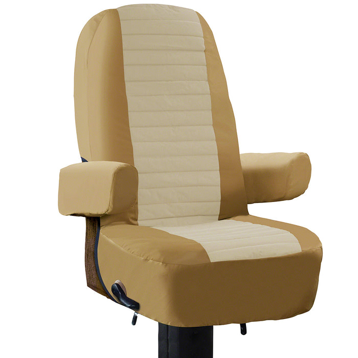 Classic Accessories 80-112-012401-00 Tan Heavy Duty RV Captain Seat Cover