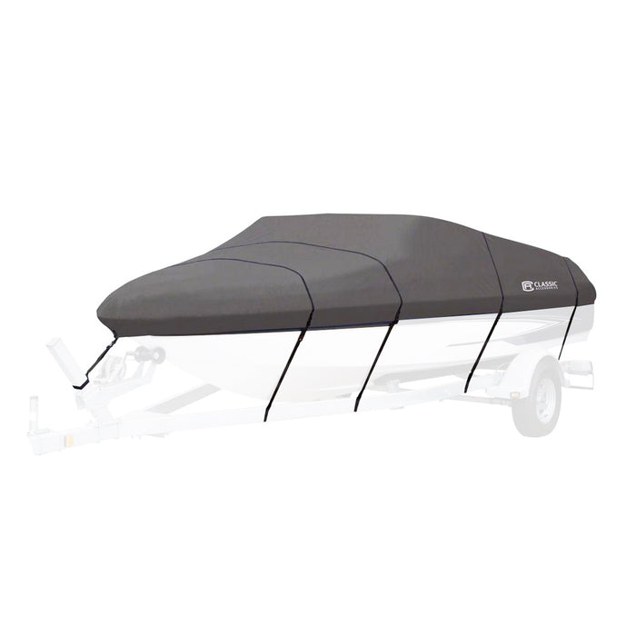 Classic Accessories 88928 Gray Stormpro Boat Cover for Bass Boats up to 90-Inch