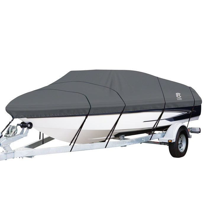 Classic Accessories 88958 Gray Stormpro Boat Cover for Bass Boats up to 106-Inch