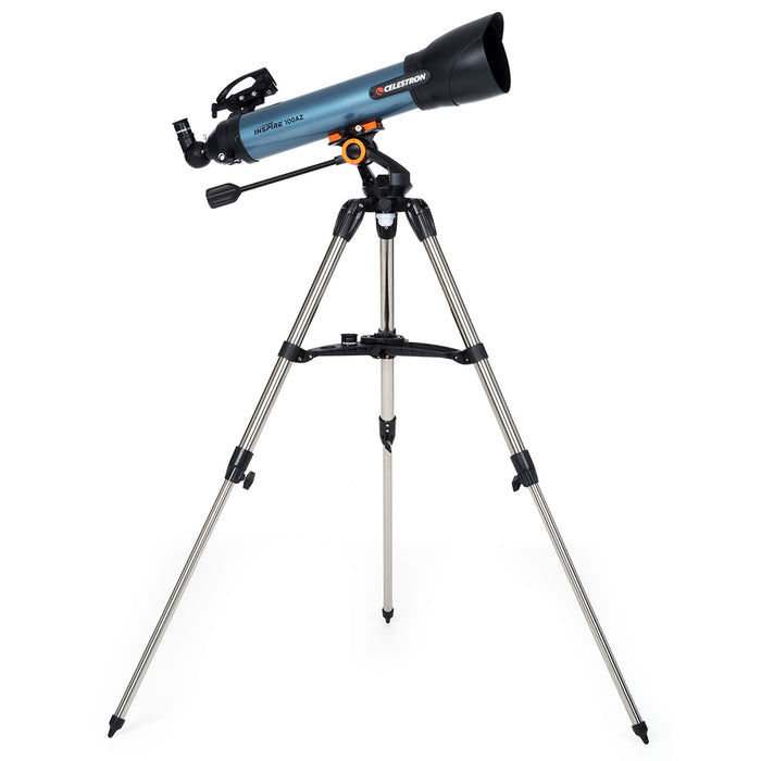 Celestron 22403 100AZ 241x Blue Durable LED Adapter Inspire Refractor Telescope