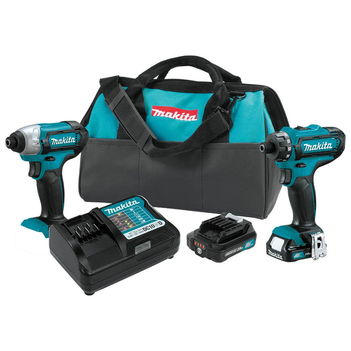 Makita CT230R 12-Volt 2.0Ah Lithium-Ion MZX CXT Cordless Driver Combo Kit