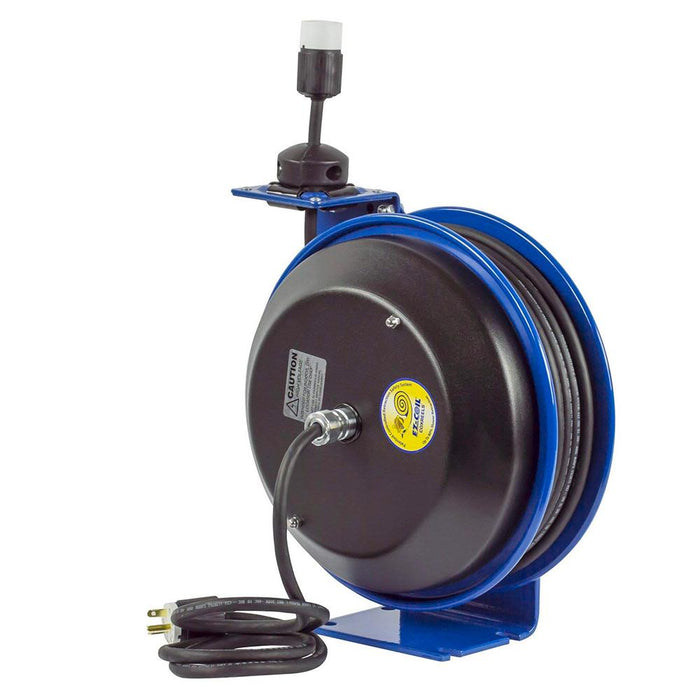 Coxreels EZ-PC13-5012-A 50-Foot Single Safety Spring Rewind Power Cord Reel