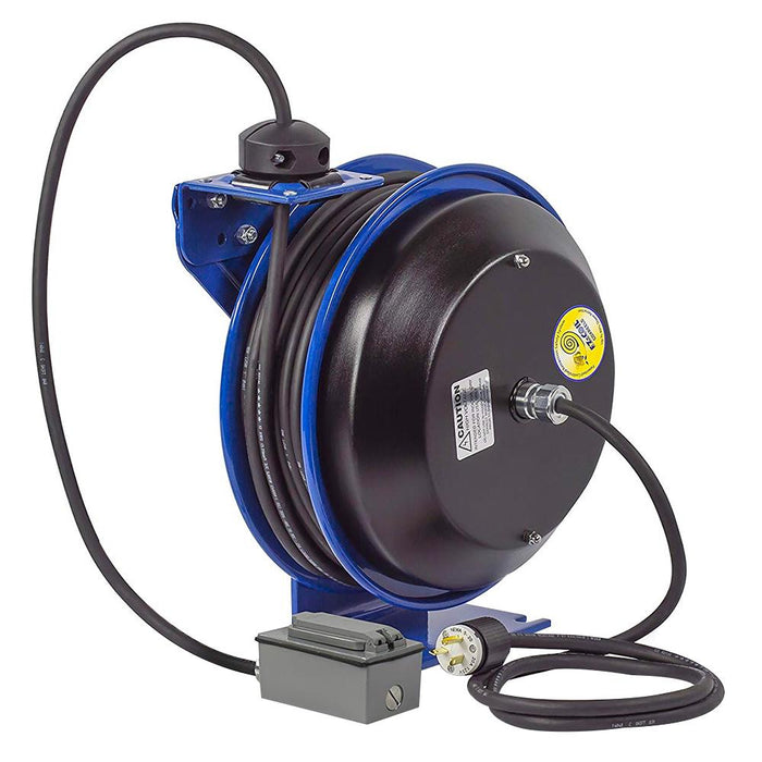 Coxreels EZ-PC13-5012-F 50-Foot Duplex Safety Spring Rewind Power Cord Reel