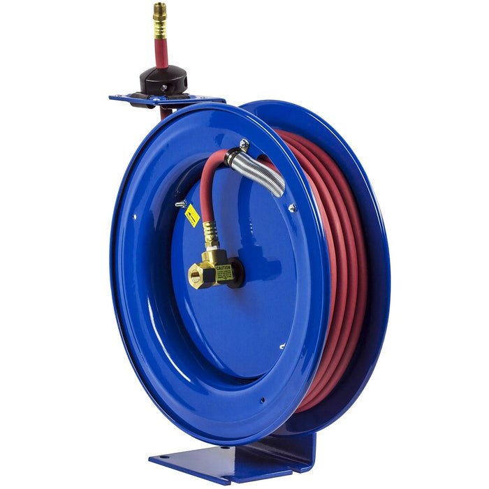 Coxreels P-LP-350 50-Foot 3/8-Inch 300-Psi Steel Spring Rewind Reel w/ Hose