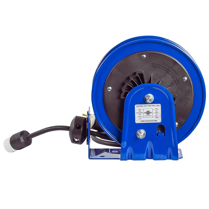 Coxreels PC10-3012-A 30-Foot 12 AWG Single Receptacle Rewind Reel w/ Power Cord