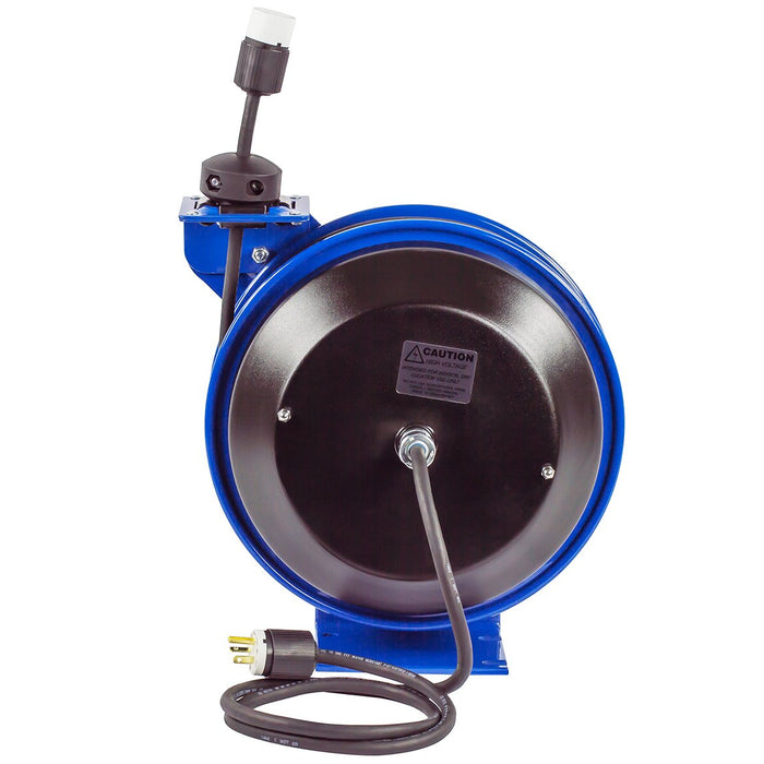 Coxreels PC13-3512-A 35-Foot Single Receptacle Spring Rewind Reel w/ Power Cord