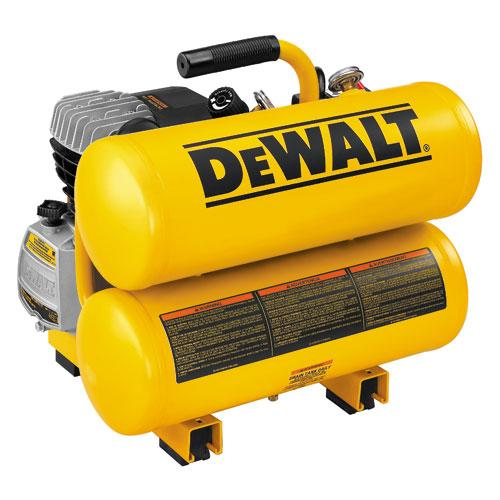 DeWALT D55153 4 Gallon 1.1 HP 100 PSI Hot Dog Air Tool Compressor - Reconditioned