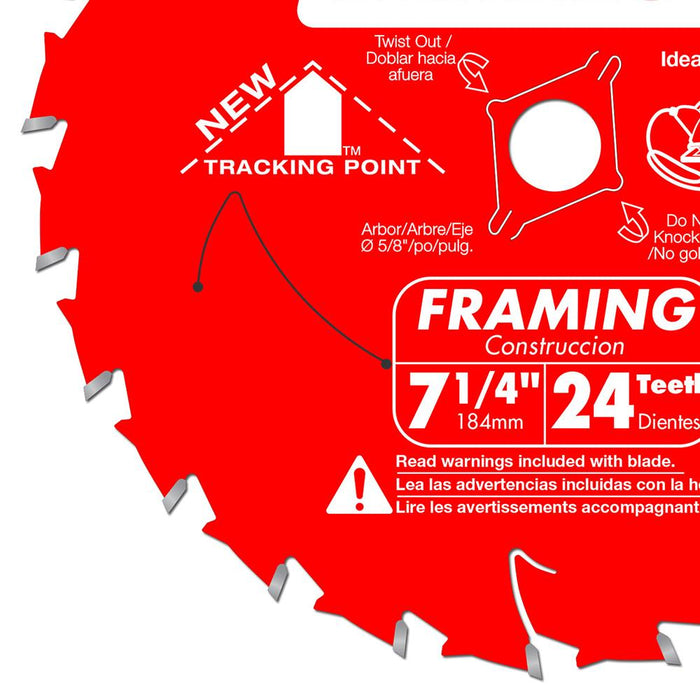 Diablo 0724X 7 1/4-Inch 24-TPI ATB Carbide Framing Diamond Knockout Saw Blade
