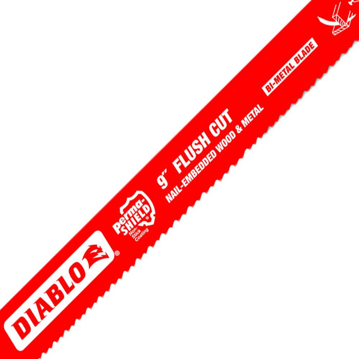 Diablo DS0914AFC5 9-Inch 10/14-TPI Bi-Metal Flush Cut Reciprocating Blade - 5pk