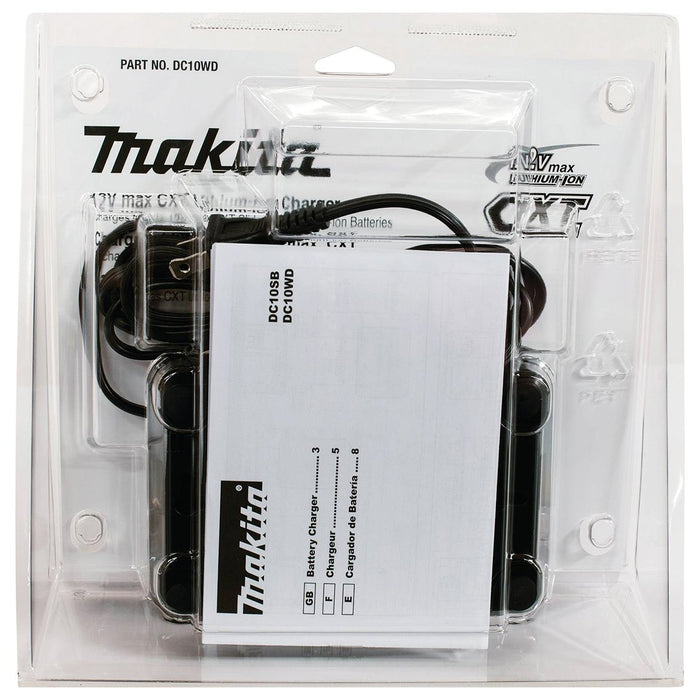 Makita DC10WD 12-Volt 1.5 - 4.0Ah Lithium-Ion CXT Battery Charger