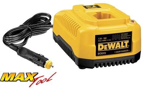 DeWALT DC9319 7.2V 18V Tool Battery 1 Hour Car Charger - 7.2 18 Volt