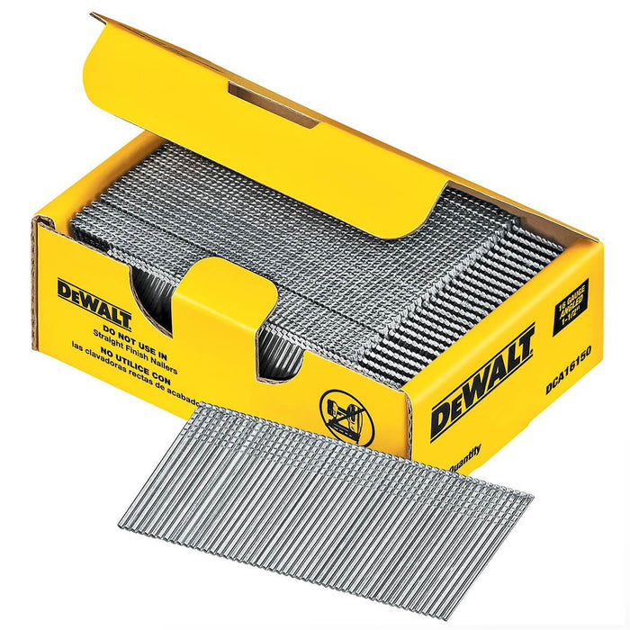 DeWALT DCA16150 1-1/2'' 20 Degree 16 Gauge Angled Galvanized Finish Nails (2500 Pack)