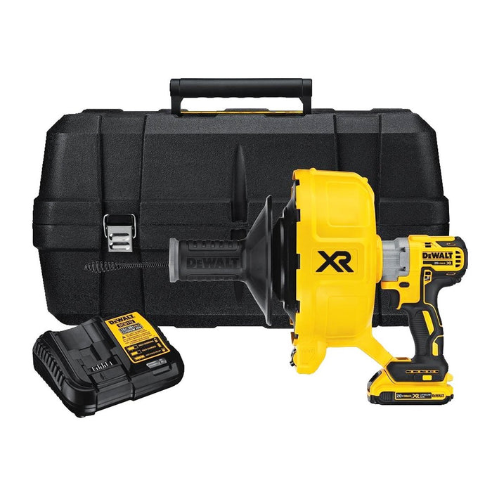 DeWALT DCD200D1 20-Volt Max XR Brushless Removable Drum Drain Snake Kit