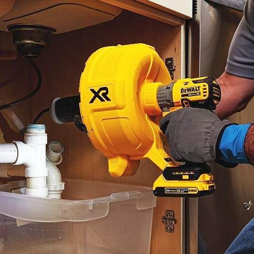 DeWALT DCD200D1 20V MAX XR Brushless Removable Drum Drain Snake Kit