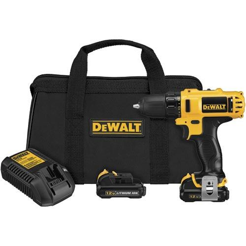 DeWALT DCD710S2 12V MAX Cordless Lithium-Ion 3/8-in Drill Driver Kit
