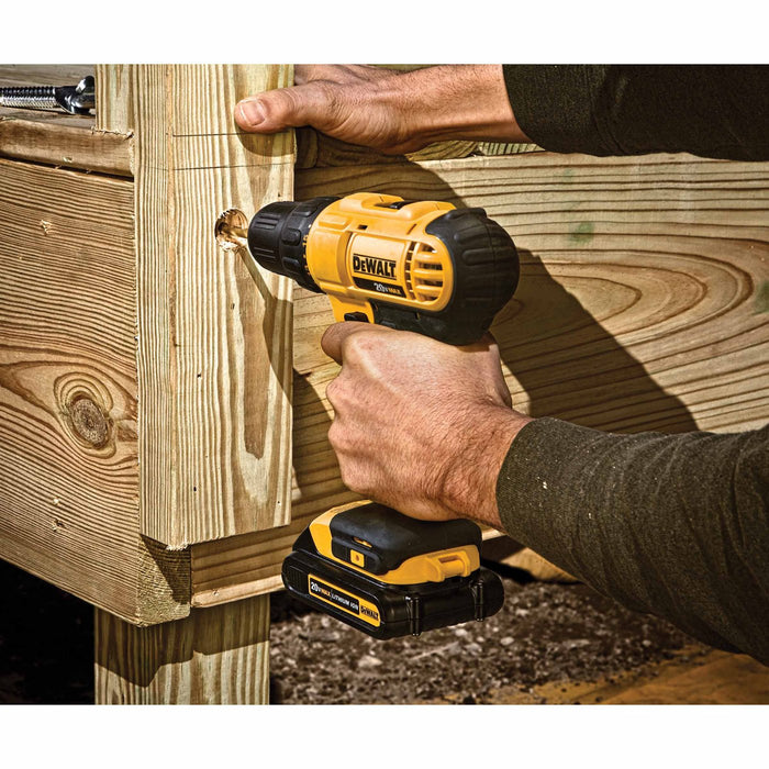 "DeWALT DCD771C2 20V MAX Lithium-Ion 1/2"" Compact Drill Driver Tool Kit - Recon"