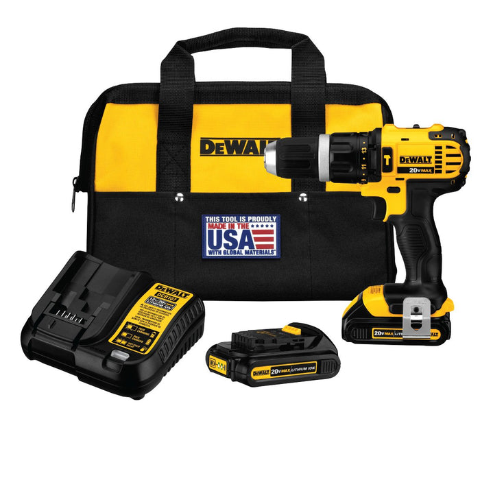 Dewalt DCD785C2R 20V MAX Cordless Compact Hammer Drill Driver Kit Reconditioned