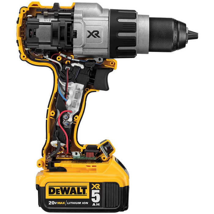 DeWALT DCD996P2 20-Volt 1/2-Inch 3-Speed 5.0Ah Lithium-Ion Hammer-Drill Kit