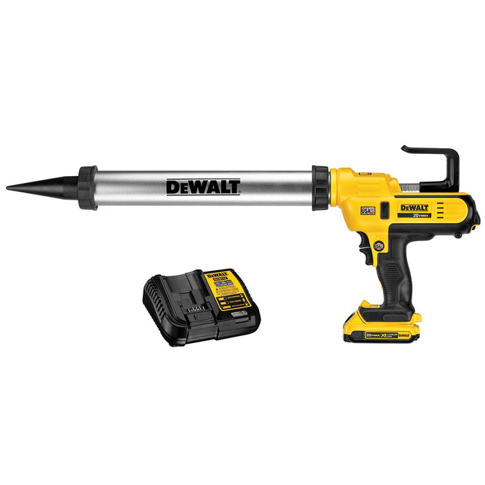 DeWALT DCE580D1 20V MAX 2Ah 300-600 ml Lithium-Ion Adhesive Caulk Gun Kit
