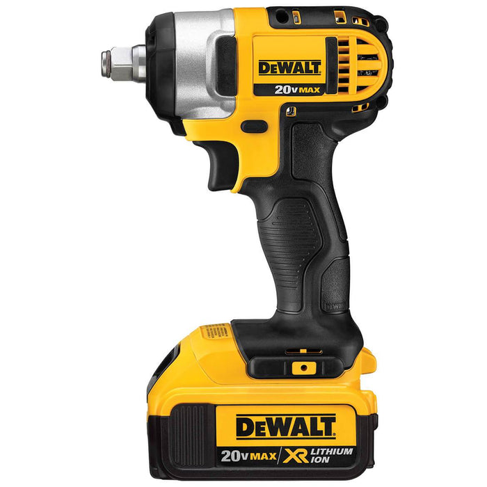 "DeWALT DCF880HM2 20V MAX  Lithium Ion 1/2"" Impact Wrench Kit w/ Hog Ring"