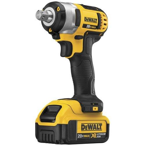 DeWALT DCF880M2 20V MAX Lithium Ion 1/2-Inch Impact Wrench Kit w/ Detent Pin