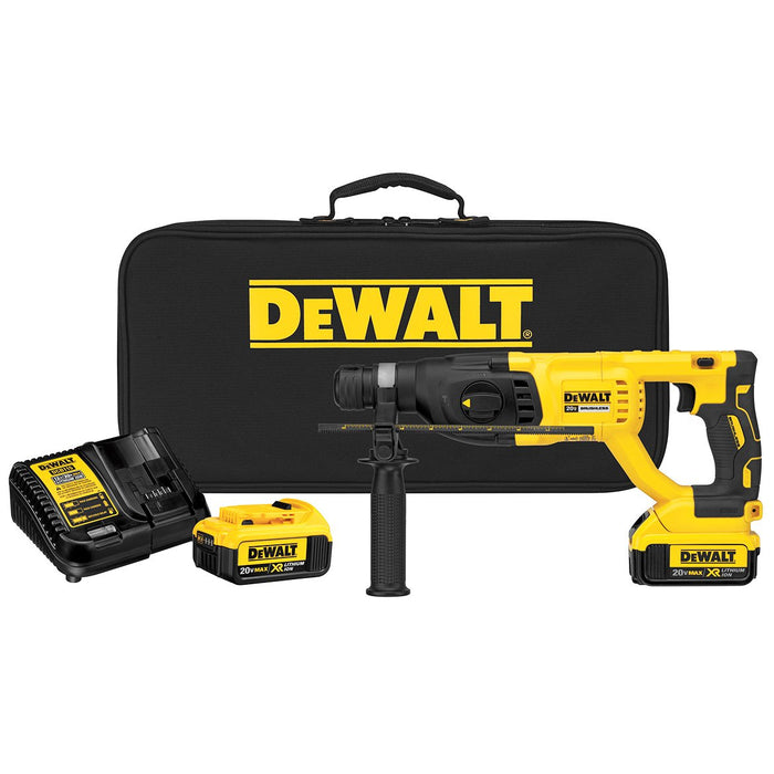 DeWALT DCH133M2 20-Volt 1-Inch D-Handle XR Brushless Cordless Rotary Hammer Kit