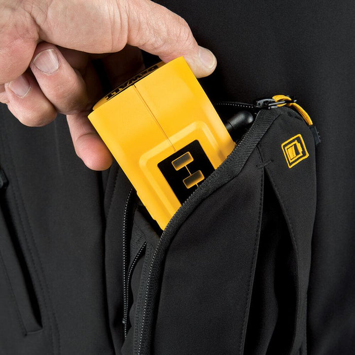 DeWALT DCHJ060ABD1-XL 20V Heated Soft Shell Jacket Kit Black XL - Bare Tool
