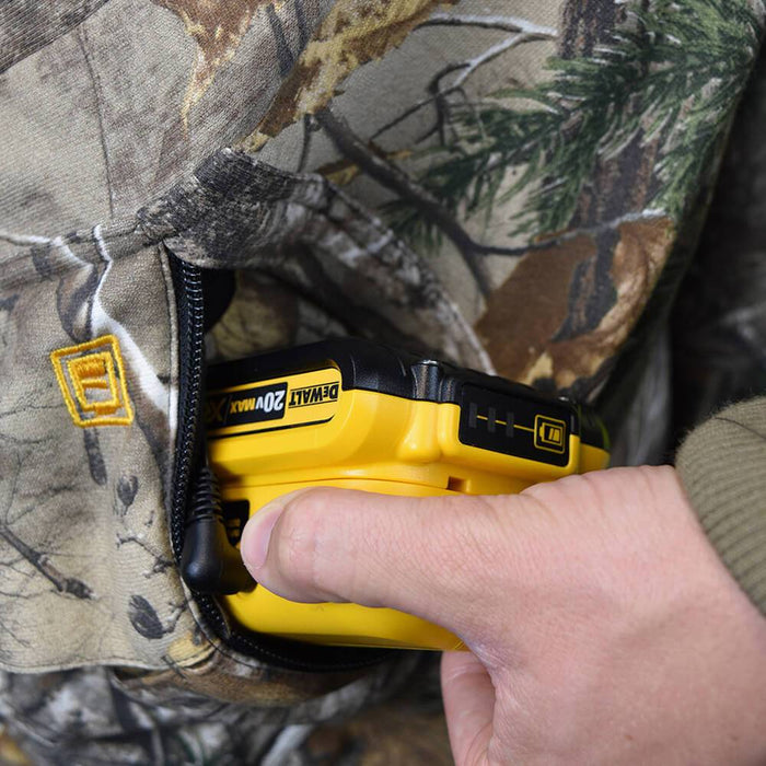 DEWALT DCHJ074D1-L Realtree Xtra️ Camouflage Heated Hoodie Large Camouflage KIT