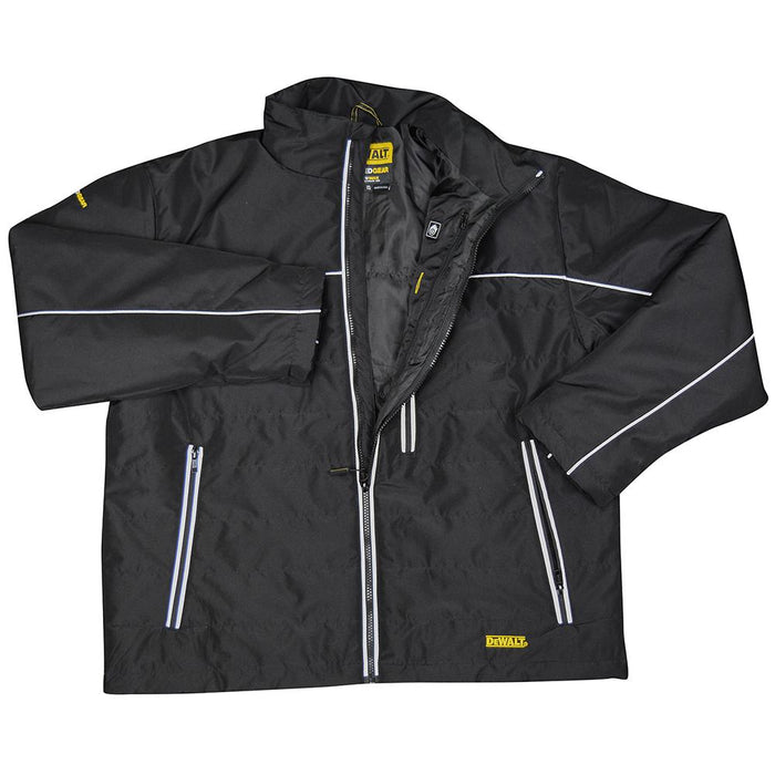 DeWALT DCHJ075D1-XL 20-Volt Heated Quilted Soft Shell Jacket Kit, Black - Small