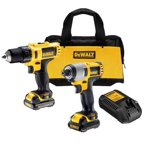 DeWALT DCK211S2 12V MAX* Lithium Ion Drill / Impact Combo Tool Kit