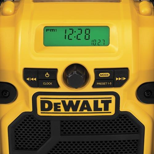 DeWALT DCR018 12V MAX 18V 20V Max Compact Worksite Radio - Aux USB iPhone Port