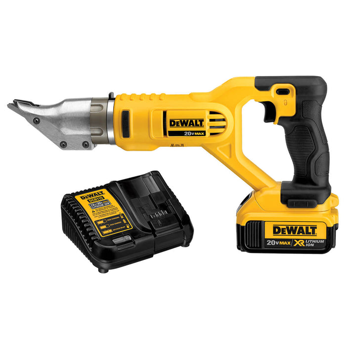 DeWALT DCS491M2 20V 18-Gauge Swivel Head Double Cut Shear Kit