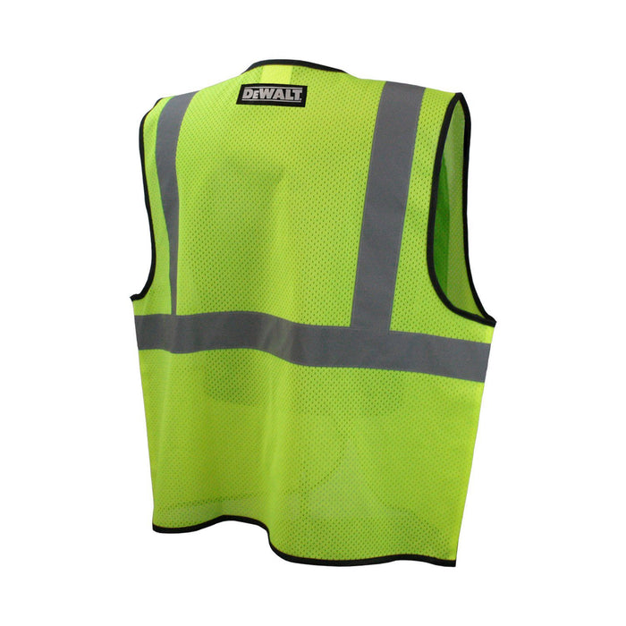 Dewalt DSV220-XL Class 2 Durable Polyester Mesh Economy Green Vest, X-Large
