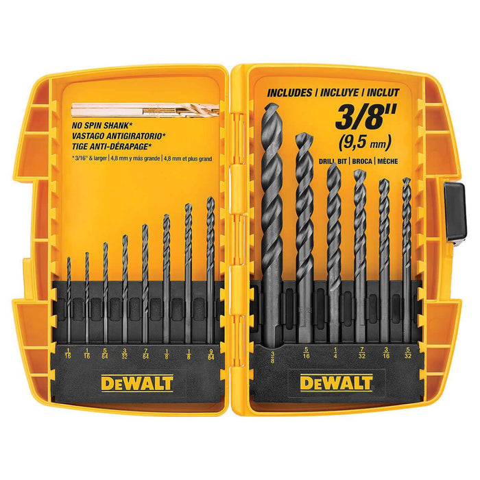 DeWALT DW1162 14-Piece Black Oxide Drill Bit Set