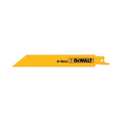 "DEWALT DW4808 6"" 14 TPI Straight Back Bi-Metal Recip. Saw Blade (5-Pack)"