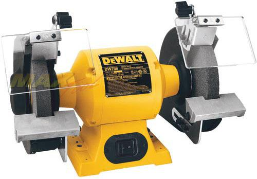 "DeWALT DW758 8"" Heavy-Duty Bench Top 36 60 Grit Grinder Tool - 3/4 HP 3600 RPM"