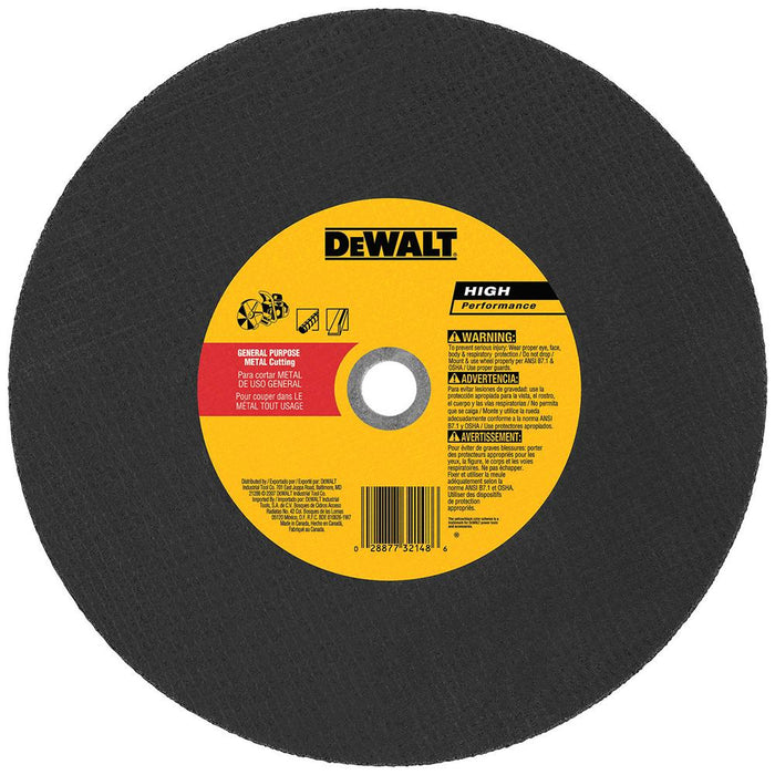 "DeWALT 14"" x 1/8"" x 20mm Metal Cutting Blade - DW8021"