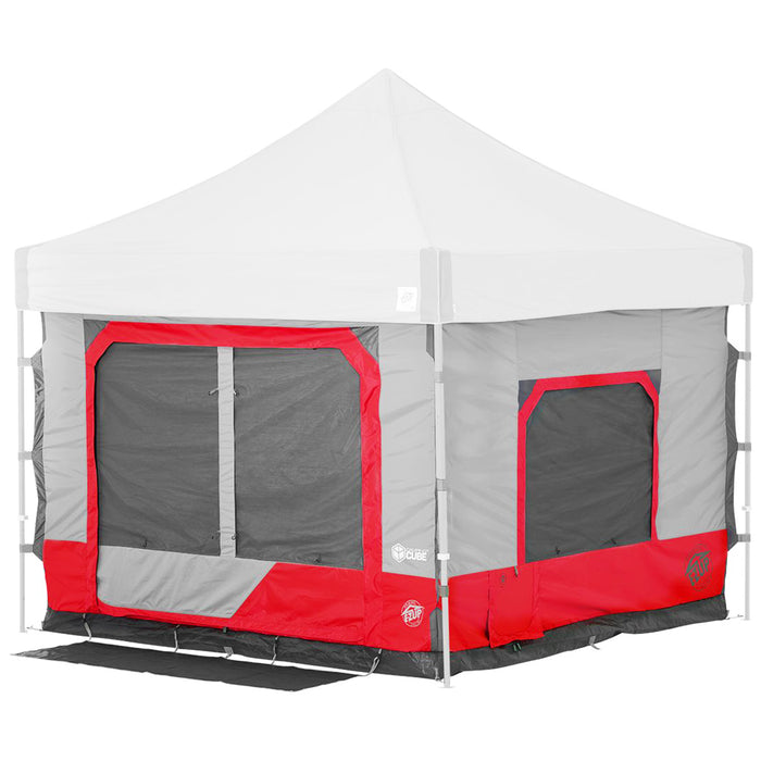 E-Z Up CC10SLPN 10-Foot x 10-Foot 6.4 Straight Leg Camping Cube - Punch